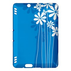 Flower Blue Kindle Fire Hdx Hardshell Case by Mariart