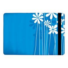 Flower Blue Samsung Galaxy Tab Pro 10 1  Flip Case by Mariart