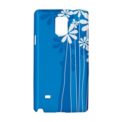 Flower Blue Samsung Galaxy Note 4 Hardshell Case by Mariart