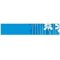 Flower Blue Flano Scarf (large) by Mariart