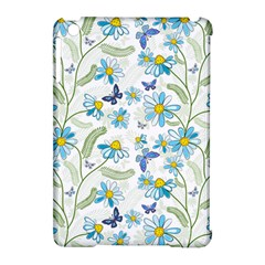 Flower Blue Butterfly Leaf Green Apple Ipad Mini Hardshell Case (compatible With Smart Cover) by Mariart
