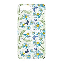 Flower Blue Butterfly Leaf Green Apple Iphone 7 Plus Hardshell Case by Mariart