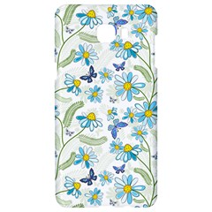 Flower Blue Butterfly Leaf Green Samsung C9 Pro Hardshell Case  by Mariart