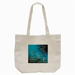 Flower Back Leaf River Blue Star Tote Bag (cream) by Mariart