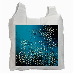 Flower Back Leaf River Blue Star Recycle Bag (one Side) by Mariart