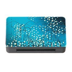 Flower Back Leaf River Blue Star Memory Card Reader With Cf by Mariart