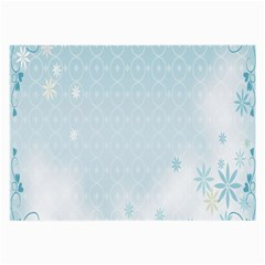 Flower Blue Polka Plaid Sexy Star Love Heart Large Glasses Cloth (2 Side) by Mariart