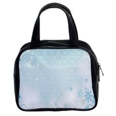 Flower Blue Polka Plaid Sexy Star Love Heart Classic Handbags (2 Sides) by Mariart