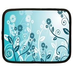 Flower Blue River Star Sunflower Netbook Case (large) by Mariart