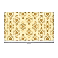 Flower Brown Star Rose Business Card Holders by Mariart
