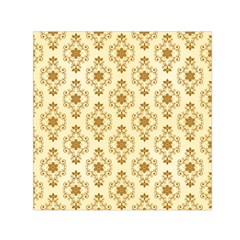 Flower Brown Star Rose Small Satin Scarf (square) by Mariart