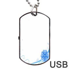 Flower Blue Sunflower Star Sexy Dog Tag Usb Flash (one Side) by Mariart