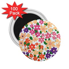 Flower Floral Rainbow Rose 2 25  Magnets (100 Pack)  by Mariart