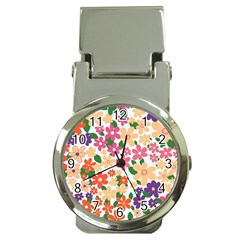 Flower Floral Rainbow Rose Money Clip Watches by Mariart