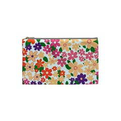 Flower Floral Rainbow Rose Cosmetic Bag (small)  by Mariart