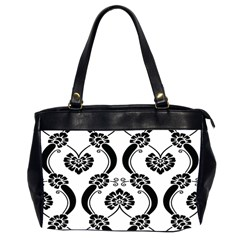 Flower Floral Black Sexy Star Black Office Handbags (2 Sides)  by Mariart