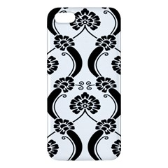 Flower Floral Black Sexy Star Black Apple Iphone 5 Premium Hardshell Case