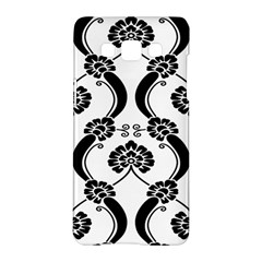 Flower Floral Black Sexy Star Black Samsung Galaxy A5 Hardshell Case  by Mariart