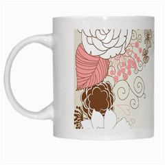 Flower Floral Rose Sunflower Star Sexy Pink White Mugs by Mariart