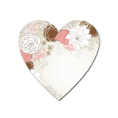 Flower Floral Rose Sunflower Star Sexy Pink Heart Magnet by Mariart