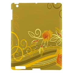 Flower Floral Yellow Sunflower Star Leaf Line Gold Apple Ipad 3/4 Hardshell Case by Mariart