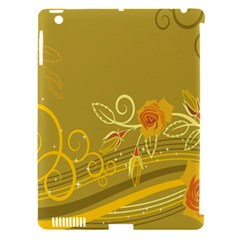 Flower Floral Yellow Sunflower Star Leaf Line Gold Apple Ipad 3/4 Hardshell Case (compatible With Smart Cover) by Mariart