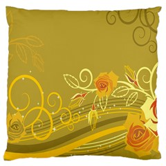 Flower Floral Yellow Sunflower Star Leaf Line Gold Standard Flano Cushion Case (two Sides) by Mariart