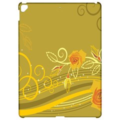 Flower Floral Yellow Sunflower Star Leaf Line Gold Apple Ipad Pro 12 9   Hardshell Case