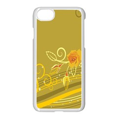 Flower Floral Yellow Sunflower Star Leaf Line Gold Apple Iphone 7 Seamless Case (white) by Mariart