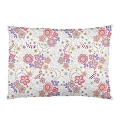 Flower Floral Sunflower Rose Purple Red Star Pillow Case by Mariart
