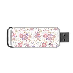 Flower Floral Sunflower Rose Purple Red Star Portable Usb Flash (one Side) by Mariart