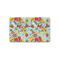 Flower Fruit Star Polka Rainbow Rose Magnet (name Card) by Mariart