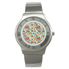 Flower Fruit Star Polka Rainbow Rose Stainless Steel Watch by Mariart
