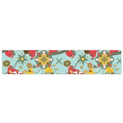 Flower Fruit Star Polka Rainbow Rose Flano Scarf (small) by Mariart