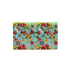 Flower Fruit Star Polka Rainbow Rose Cosmetic Bag (xs) by Mariart