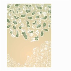 Flower Frame Green Sexy Small Garden Flag (two Sides) by Mariart