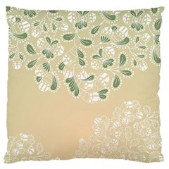 Flower Frame Green Sexy Standard Flano Cushion Case (two Sides) by Mariart
