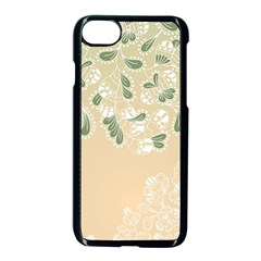 Flower Frame Green Sexy Apple Iphone 7 Seamless Case (black) by Mariart