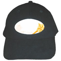 Flower Floral Yellow Sunflower Star Leaf Line Black Cap by Mariart