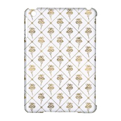 Flower Leaf Gold Apple Ipad Mini Hardshell Case (compatible With Smart Cover) by Mariart