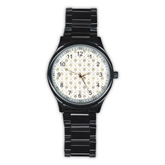 Flower Leaf Gold Stainless Steel Round Watch by Mariart