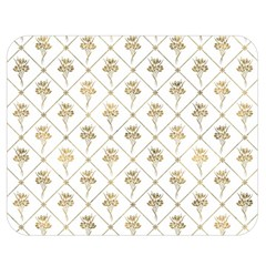 Flower Leaf Gold Double Sided Flano Blanket (medium)  by Mariart