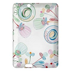 Flower Rainbow Circle Polka Leaf Sexy Kindle Fire Hdx Hardshell Case by Mariart