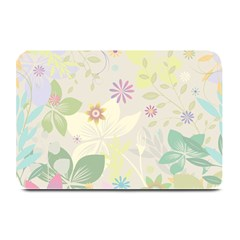 Flower Rainbow Star Floral Sexy Purple Green Yellow White Rose Plate Mats by Mariart