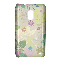 Flower Rainbow Star Floral Sexy Purple Green Yellow White Rose Nokia Lumia 620 by Mariart