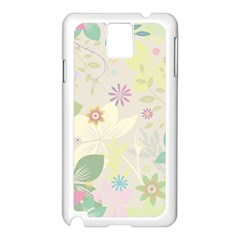 Flower Rainbow Star Floral Sexy Purple Green Yellow White Rose Samsung Galaxy Note 3 N9005 Case (white) by Mariart