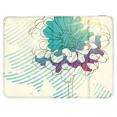 Flower Rose Purple Sunflower Lotus Samsung Galaxy Tab 7  P1000 Flip Case by Mariart