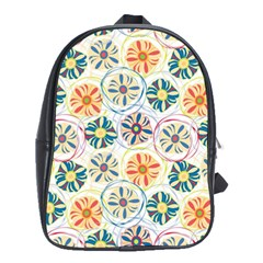 Flower Rainbow Fan Sunflower Circle Sexy School Bag (large) by Mariart