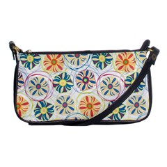 Flower Rainbow Fan Sunflower Circle Sexy Shoulder Clutch Bags by Mariart