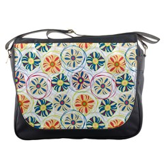 Flower Rainbow Fan Sunflower Circle Sexy Messenger Bags by Mariart